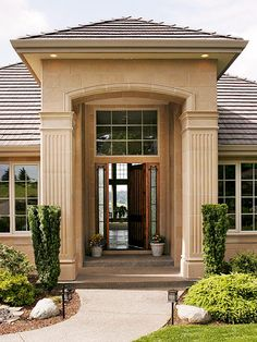 Wood Siding: A Visual Guide to Siding Options Faux Stone Siding, Wood Siding, Exterior Siding, Interior Exterior, Siding Options, Hip Roof, House Front Design, Facade House, Next At Home