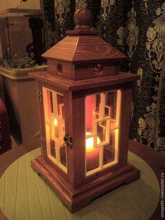 Купить Свечной фонарь - подсвечник, фонарь, фонарь-подсвечник, деревянный фонарь, деревянный, светильник