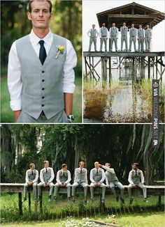 gray groomsman ideas | CHECK OUT MORE IDEAS AT WEDDINGPINS.NET | #bridesmaids