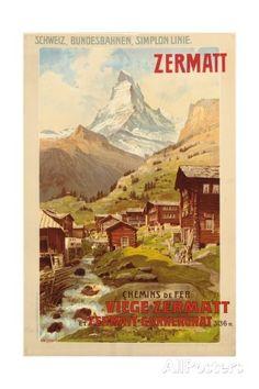 Zermatt, c.1900 Stampa giclée