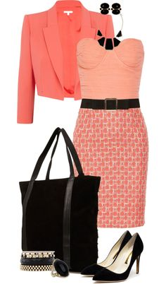 """""""Coral Officerwear"""" by angela-windsor on Polyvore"""