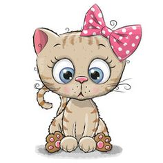 Cute Cartoon Kitten girl