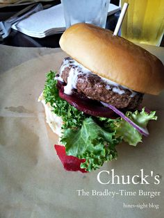 yummy burger at Chuck's downtown Raleigh