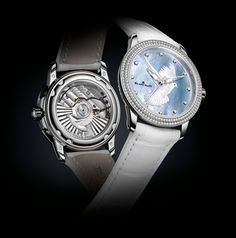 """Blancpain White Dove Watch - One of a kind that is available exclusively at the """"Only Watch 2013"""" Auction. Sold for € 40.000,= models, 2013 auction, monaco 2013, blancpain women, 2013 blancpain, blancpainpiguet watch, 2013 vauction, watch 2013, auction 2013"""