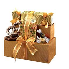 Broadway Basketeers Chocolate Gift Set Gift tower includes a gift box of lindt truffles, almond roca butter cream toffee, peanut brittle crunch, almond pecan Family Gift Baskets, Gourmet Gift Baskets, Gourmet Gifts, Gourmet Recipes, Christmas Food Gifts, Christmas Gift Baskets, Christmas Decor, Christmas Ideas, Chocolate Heaven