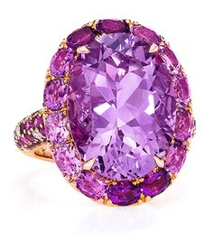 Oval Amethyst Ring. Cellini Jewelers