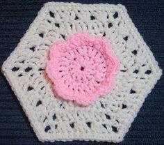 Rose Quartz Flower Hexagon | AllFreeCrochetAfghanPatterns.com