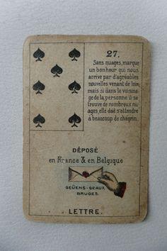 [Antique] Original Geûens-Seaux Lenormand Fortune Telling Cards Deck-Complete