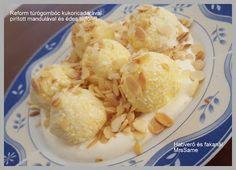 Habverő és fakanál: Reform túrógombóc kukoricadarával, pirított mandulával és édes tejföllel