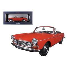 1967 Peugeot 404 Cabriolet Capanelle Red 1/18 Diecast Model Car by Norev