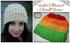 Ravelry: Ladies Whimsical Warmth Beanie pattern by Beatrice Ryan Designs