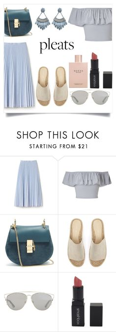 """50shadesofgrays"" by montseperezp ❤ liked on Polyvore featuring Lacoste, Miss Selfridge, Chloé, Mint Velvet, Christian Dior, Smashbox and Gucci"