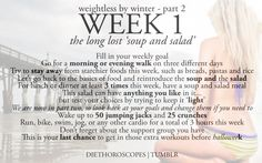 weightless by winter week 1 - part 2