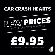 NEW PRICE!!! To cheer everyone up this January...All CCH tees are now at the low low price of £9.95!  https://marketplace.asos.com/seller/carcrashhearts www.etsy.com/uk/shop/cchclothing