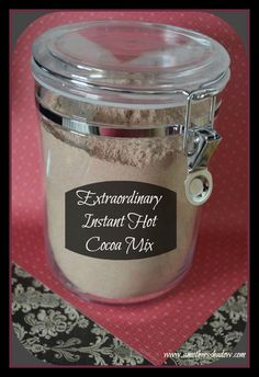 recipe for homemade instant hot chocolate drink Mexican Hot Chocolate, Homemade Hot Chocolate, Hot Chocolate Bars, Hot Chocolate Recipes, Homemade Hot Cocoa Mix Recipe Without Powdered Milk, Homemade Hot Cocoa Recipe, Chocolate Spoons, Chocolate Milk Powder, Homemade Dry Mixes