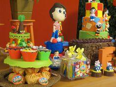 Decoração de Festa Mesa do bolo Bolo de Chocolate Festa infantil  Festa em casa sítio do picapau amarelo
