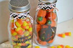 A Step in the Journey: Halloween Treat Jars with Martha Stewart Crafts