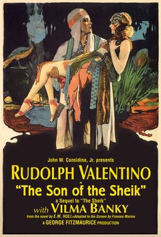 """Son of the Sheik"" restored Classic Vintage Chromolithograph"