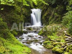 Geroldsauer Waterfall in Grobbach Valley in the Black Forest Landscapes Photographic Print - 61 x 46 cm