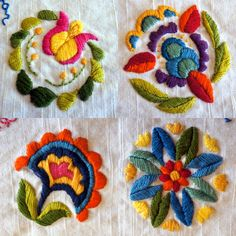 signature tablecloth project, floral details by Laura Hartrich, via Flickr