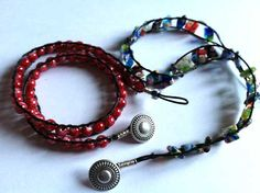 the full moxie: Double-wrapped bracelets  A simple tutorial on creating awesome double-wrapped bracelets.