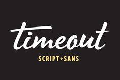 Timeout - 65% OFF for a limited time! by DearType on @creativemarket