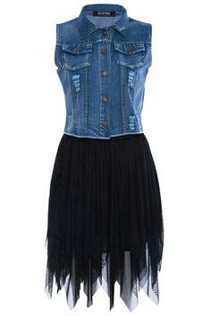 ROMWE | Chiffon Panel Pocketed Distressed Elastic Black Dress, The Latest Street Fashion