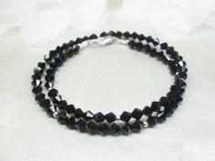 Double Wrap Bracelet  with Black Jet Black by PearlsGemsnCrystals, $17.95