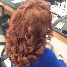 Gorgeous copper curls at Scizzor whizz