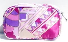 Anne Cosmetic Bag in Pink Satin Pink Church. $16.00