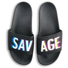 7d882ac15200 KIMOJI SAVAGE SLIDES ❤ liked on Polyvore featuring shoes