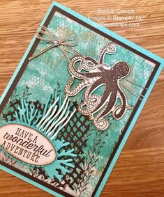 Butterfly Pavilion, Nautical Cards, Ocean Themes, Stamping Up, Cool Cards, Creative Cards, Under The Sea, Stampin Up Cards, Card Stock