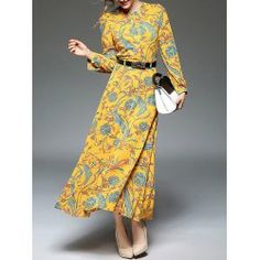 SHARE & Get it FREE | Midi High Waist Print Dress with BeltFor Fashion Lovers only:80,000+ Items • FREE SHIPPING Join Twinkledeals: Get YOUR $50 NOW!