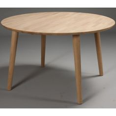 Spisebord ø 120 cm - massiv egetræ Dining Table, Elegant, Furniture, Home Decor, Dinner Table, Oak Tree, Essen, Classy, Decoration Home