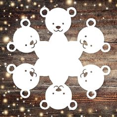 Cute, easy-to-follow teddy bear paper snowflake pattern! The pattern is a PDF download that includes instructions on how to fold and cut a paper snowflake that looks like a bear. Cute for classrooms, holiday parties, Christmas gifts, art lessons, framed artwork, packages, and more! #snowflake #papersnowflake #pattern #snowflakes #papersnowflakes #DIY #christmas #christmascraft #christmasdecor #holiday #craftyfun #holidaydecor #xmas #xmascrafts #xmasdecor #holidaycrafts #snowflakedesigns