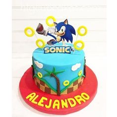 Sonic the Hedgehog Cake Sonic the Hedgehog Cake Soni. Sonic the Hedgehog Cake Sonic the Hedgehog Cake Sonic the Hedgehog Cake Hedgehog Cupcake, Sonic The Hedgehog Cake, Hedgehog Birthday, Bolo Sonic, Sonic Cake, Sonic Birthday Cake, Sonic Birthday Parties, Sonic Party, Funny Wedding Cake Toppers