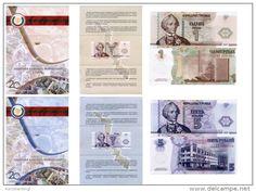 Pridnestrovian Moldavian Republic Transdniestria 4 banknotes set each in…
