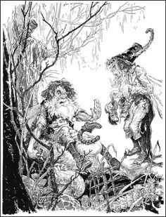 John R. Neill - The Cobbler illustration John R, Wizard Of Oz, Book Illustration, Art Google, Faeries, Fantasy Art, Art Drawings, Moose Art, Fine Art