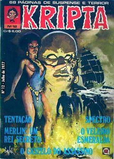 Revista Kripta #12 - RGE (1976) - Quadrinhos de terror, suspense, ficção e sobrenatural