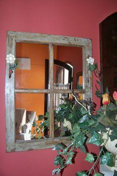 espelho - vidraça antiga