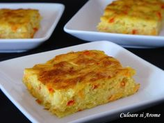 Tarta cu dovlecei si cascaval – Culoare si Arome Lasagna, Quiche, Deserts, Food And Drink, Cooking Recipes, Yummy Food, Breakfast, Ethnic Recipes, Foods
