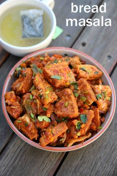 masala bread, how to make bread masala recipe with step by step photo/video. spicy and flavoured snack recipe with leftover bread slices & pav bhaji masala. Chaat Recipe, Masala Recipe, Biryani Recipe, Tea Time Snacks, Hot Snacks, Tasty Snacks, Yummy Food, Quick Snacks, Gourmet Recipes