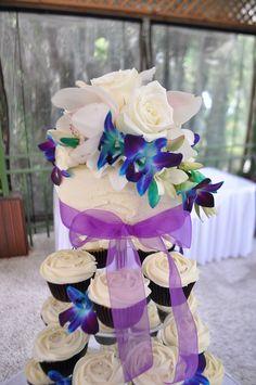 Blue Wedding Cupcakes   Cream, purple and blue wedding cupcakes   Flickr - Photo Sharing!
