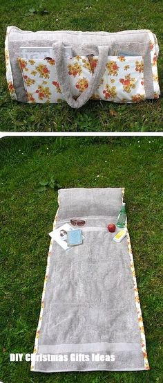Diy Sewing Projects 37 Awesome DIY Summer Projects - DIY Sunbathing Companion Beach Towel - So many amazing ideas! Now that the weather is finally starting to warm up, I'm just drooling over all the fun DIY summer projects I want to try! Sewing Hacks, Sewing Tutorials, Sewing Crafts, Diy Crafts, Sewing Tips, Basic Sewing, Diy Sommerprojekte, Sewing Ideas, Diy Gifts Sewing