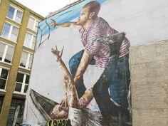 Finton Magee , Rivington Street, EC2A.   26 Stunning Street Art Murals In East London