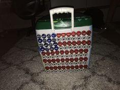 Bottle caps on cooler