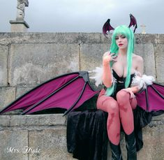 My Morrigan from Darkstalkers costume. Photo by Angel. Lots of people have asked, so as a quick explanation on how I made the costume: The bodysuit is made from stretch pleather, with hard sculpted...