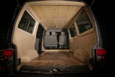 A sneak peek at the OGRE. New build. Black T4 wooden interior - VW T4 Forum - VW T5 Forum