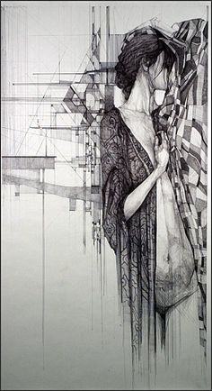Megan Mcglynn - spectacular ink drawings, what an awesome combination of geometry and art!