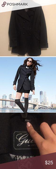 Guess Charcoal Coat Guess Charcoal Coat XS Guess Jackets & Coats Pea Coats